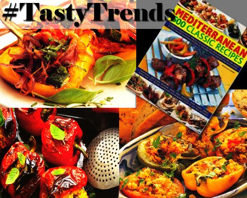 Today's #TastyTrends ... summer sizzling vegetarian treats for your grill, three regional Stuffed Pepper recipes (Greek, Italy, and Middle Eastern). Recipes on Page 145 and 146. http://ow.ly/Q0ai2