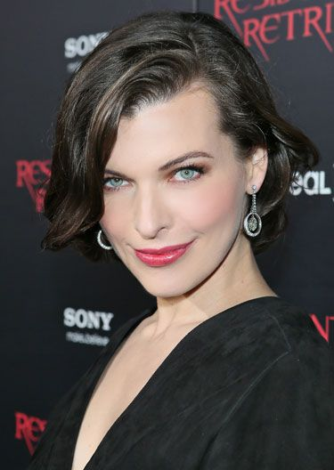Hair Color Trends Fall 2012 - Dark Side: Mila Jovavich