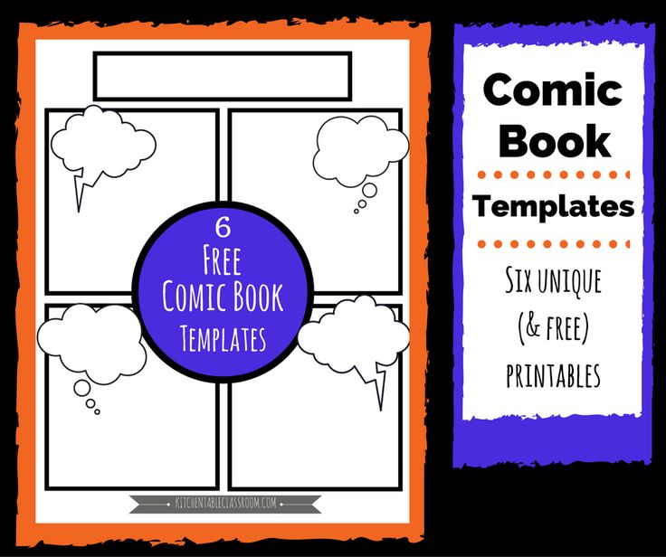 The  Best Comic Book Template Ideas On   Comic