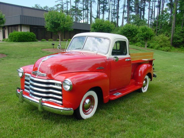Vintage Red & White Pickup Truck...Brought to you by House of Insurance in #EugeneOregon call for a  free price  comparison 541-345-4191.