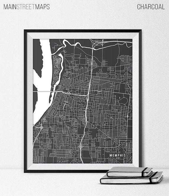Memphis Map Print, Memphis Poster of Tennessee Map of Memphis Print Gift TN Memphis Tennessee Art University Poster Dorm Room