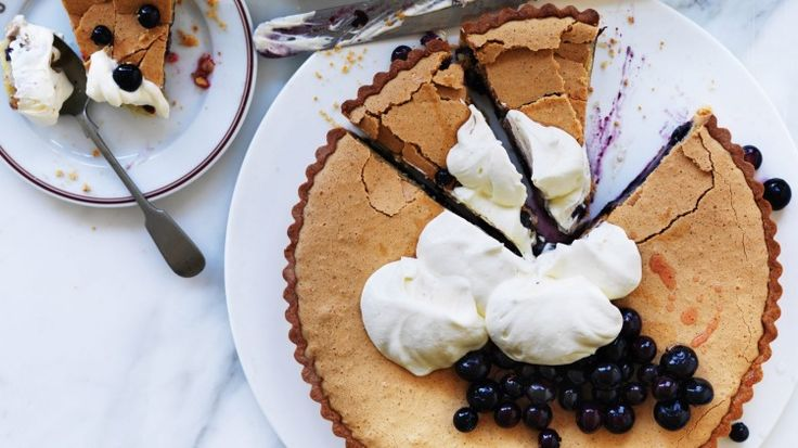 Neil Perry's brown butter blueberry tart