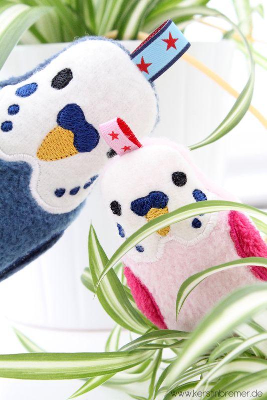 Wellensittich ITH Stickdatei von KerstinBremer.de. So cute! Budgie ith embroidery design for embroidery machine. #sticken #embroiderydesign #animal #budgies #wellensittiche
