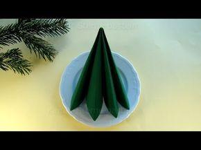 Servietten falten einfach: Doppelte Faltung - Schnelle Tischdeko selber machen: Weihnachten - YouTube