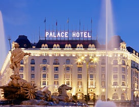 Westin Palace Hotel Madrid Spain. We stayed here; ate the best lobster buffet of my life while watching an opera performance.