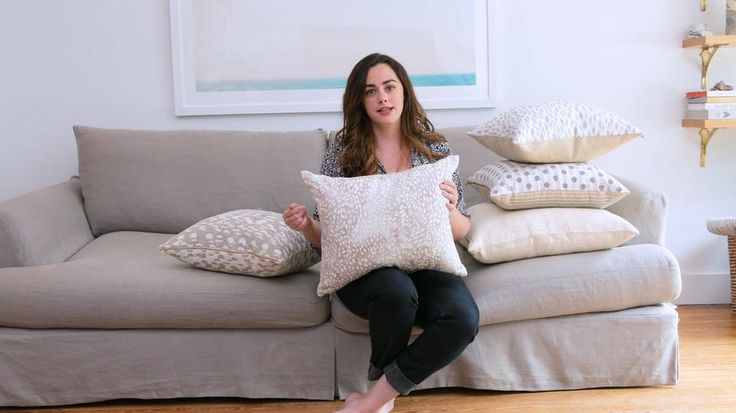 New video Friday! Rebecca teaches us how to style pillows of any color pattern or size at home in her apartment in Brooklyn. Have questions about your couch color or have pillows youd like to style? Let us know. See the whole video on YouTube (link in bio!)