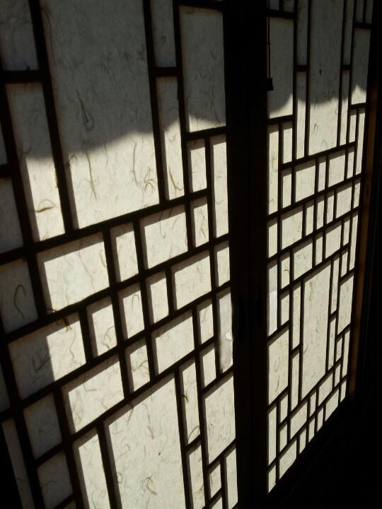 window of hanok, korea traditional house