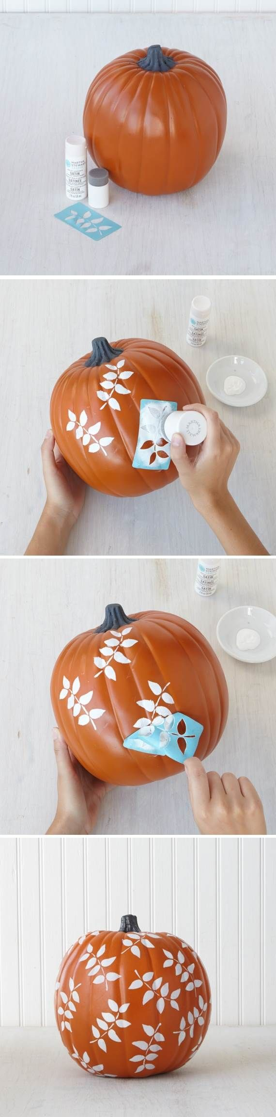 No matter where you live, you can create some beautiful fall #foliage with paints and stencils from #marthastewartcrafts