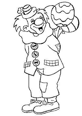 Coloring pages for kids to print - Clowns and circus coloring page/clown-coloring-pages-16
