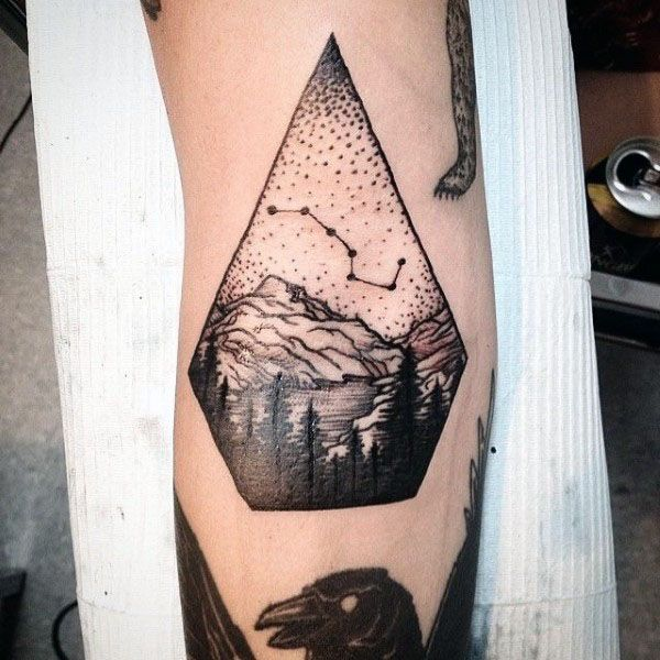 Big Dipper Mens Nature Tattoo On Forearm