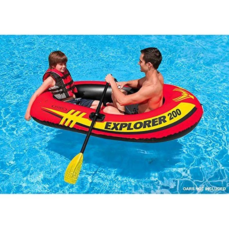Intex Explorer 2-Person Inflatable Boat Pool Lake Family Fun Fishing Cruising #Intex