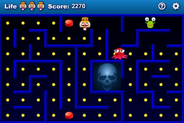 Pacman Advanced Arcade Game Play Online