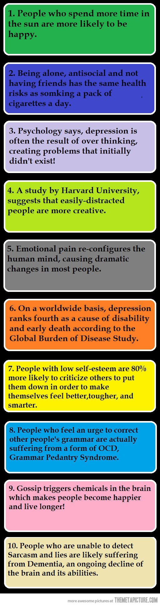 10 psychological facts…