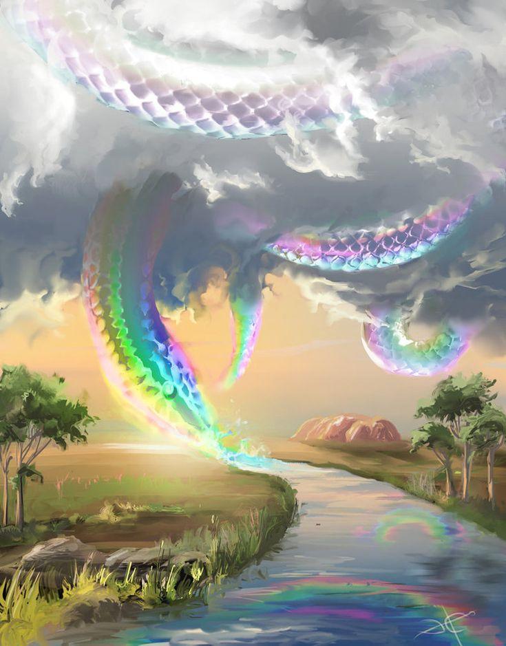 Rainbow Serpent/Julunggul/Yurlunggur (Australian/African) http://en.wikipedia.org/wiki/Rainbow_Serpent