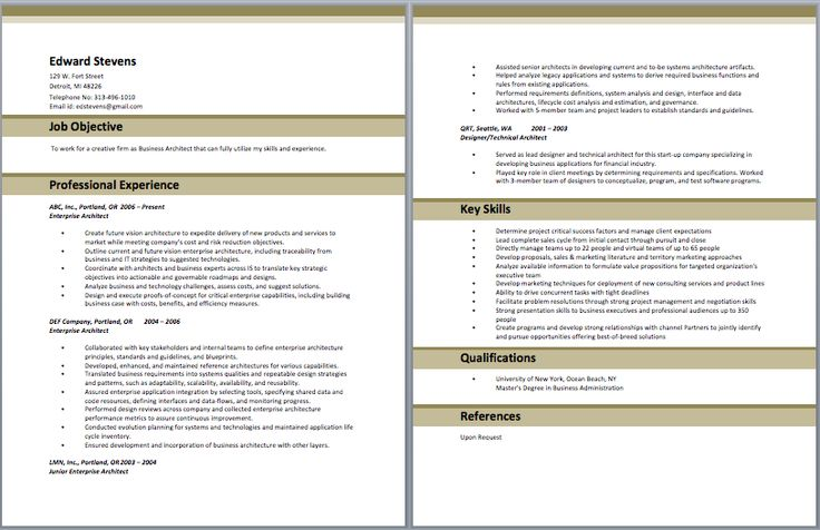 Business Architect Resume Architect Resume Samples Pinterest - architectural consultant sample resume