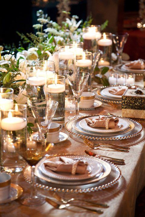 9 best Crystal Table Settings images on Pinterest   Christmas table ...
