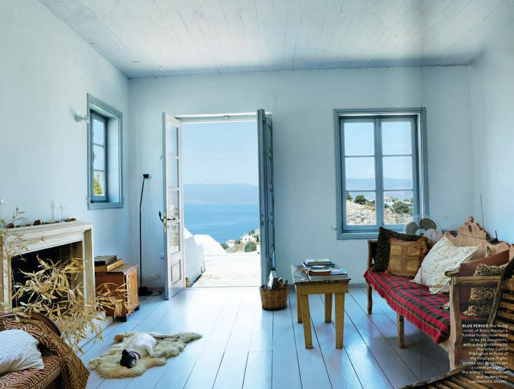 Brice Marden's former home on Hydra, Photo by Alexia Silvagni for T magazine