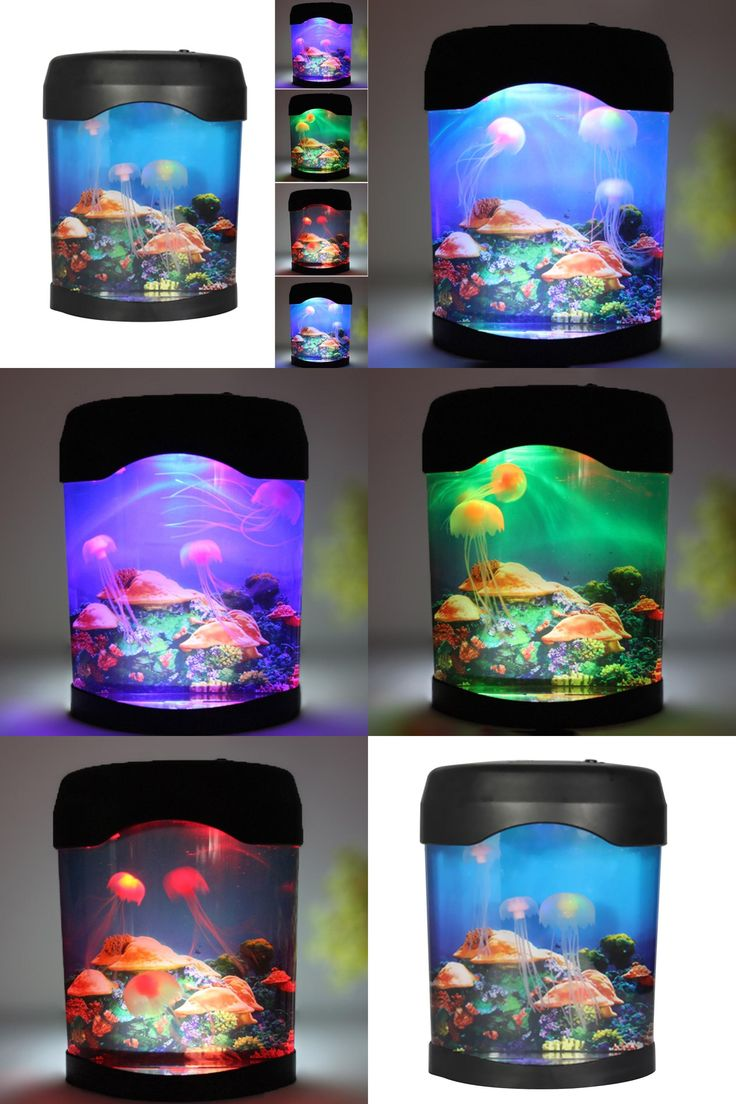 [Visit to Buy] Colorful Aquarium Lamp LED Jellyfish Fish Tank Sea World Night Light Jellyfish Box Multicolor Aquarium Accessories #Advertisement