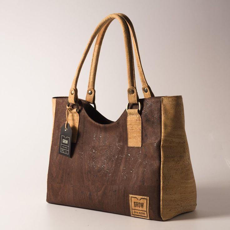 Grow's Quercus Grisea Light Brown Cork Handbag