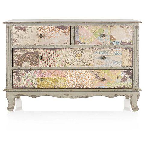 kommode mit pastellfarbenen schubladen vintage chic in bunt bei impressionen m bel. Black Bedroom Furniture Sets. Home Design Ideas