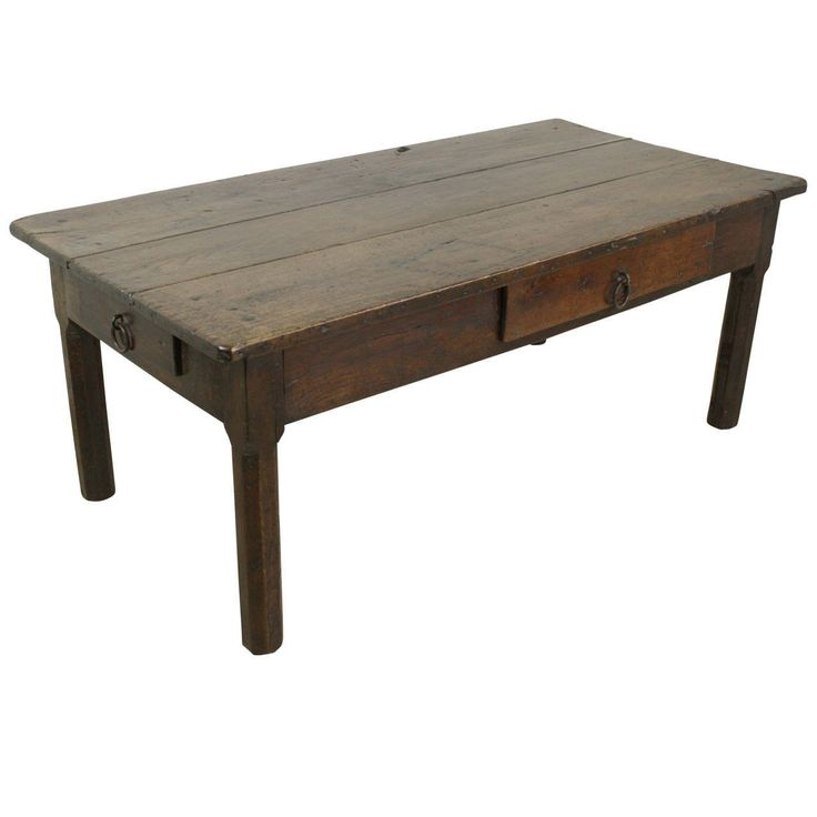 Early French Oak Coffee Table 1