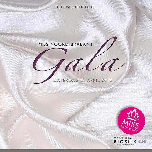 Hopontwerp: Flyer Gala Miss Noord-Brabant iov Visionart