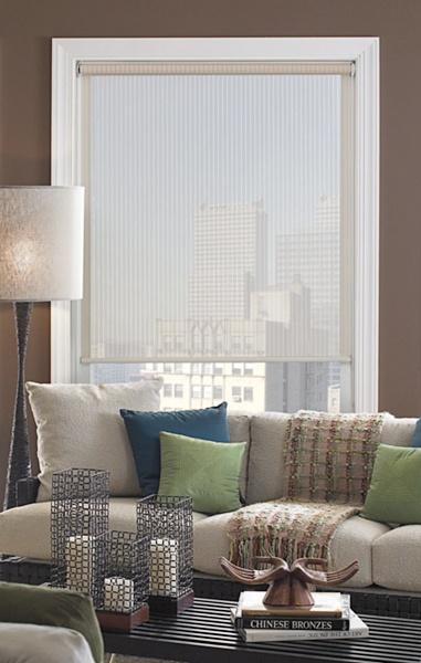 Translucid fabric blind