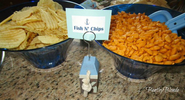 Nautical Baby Shower Food  (Fish n Chips)