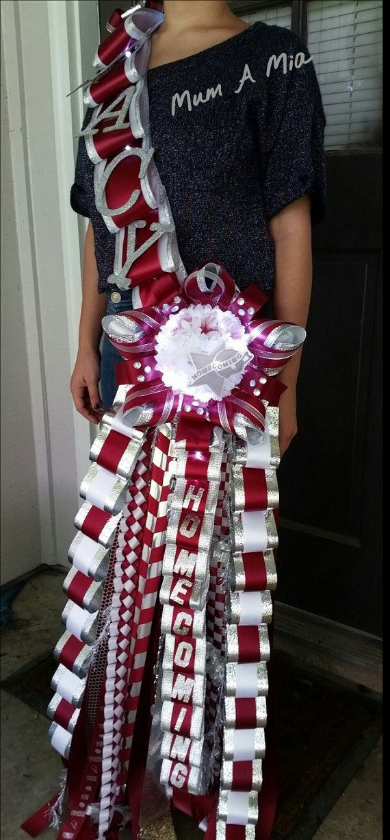Homecoming sash mum with lights. Custom orders welcome.