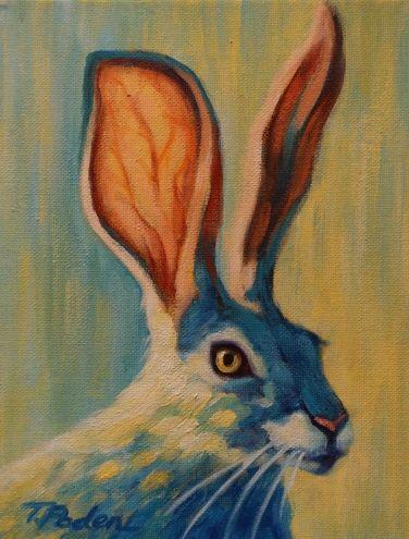 like the alert look in the eyeBytheresa Paden, Animal Painting, Rabbit Bytheresa, Listening Rabbit, Rabbit Art, Artists Theresa, Paden Acrylics, Artists Bunnies, Rabbit Painting