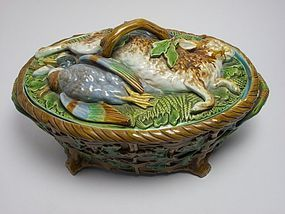 Minton majolica game tureen 1887