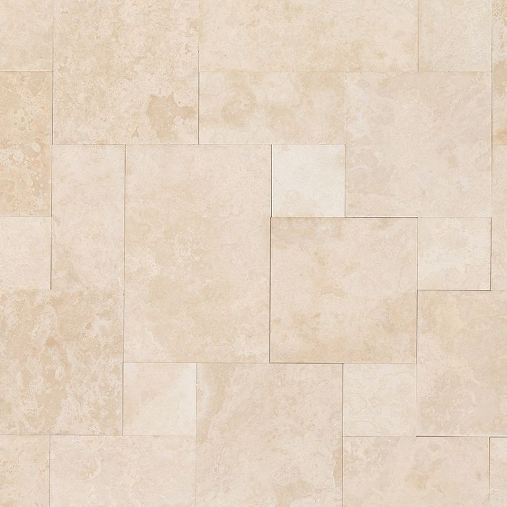 Travertine Tile - Honed and Filled - Bianco White Paradise Premium / Pattern Set / Honed and Filled / Straight Edge