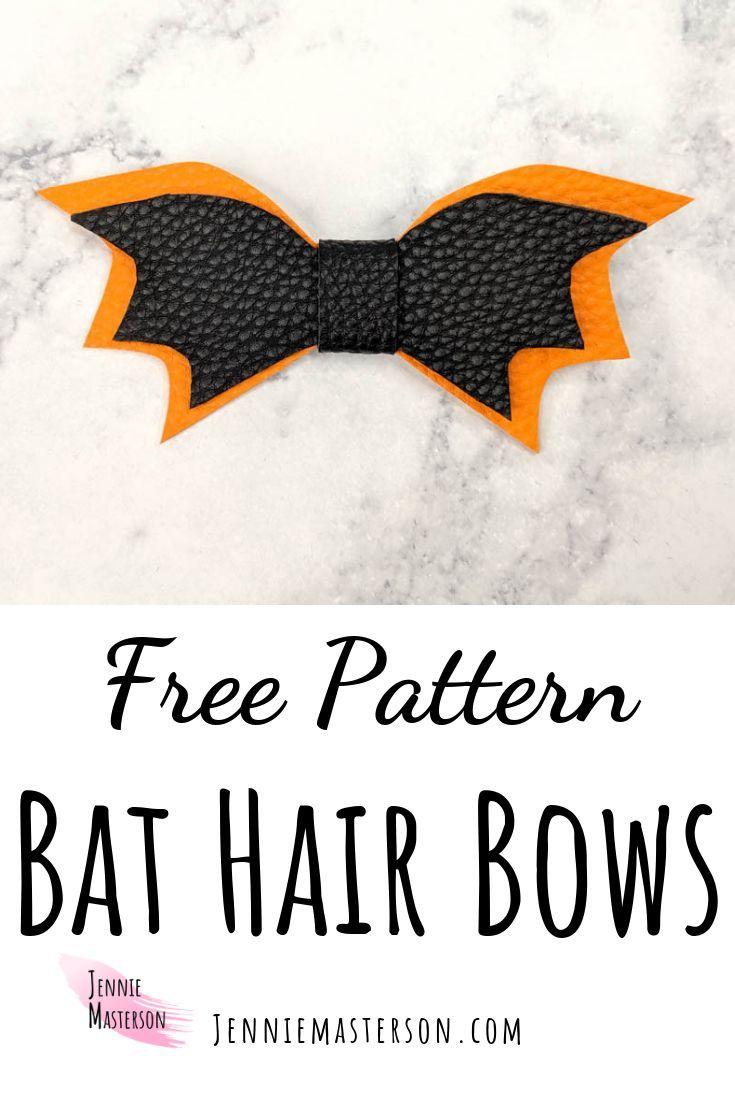 Diese Fledermaus Haarschleifen sind süß, einfach und eine perfekte DIY für die Halloween-Saison. Eine tolle Ergänzung zu Halloween-Frisuren! Kostenlose SVG & Mustervorlage ...