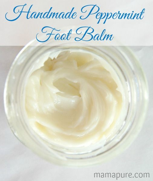 DIY Handmade Peppermint Foot Balm with Shea Butter, Coconut Oil, Peppermint & Tea Tree Essential Oils
