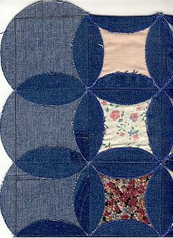 like how this blue jean quilt is made - instructions are included