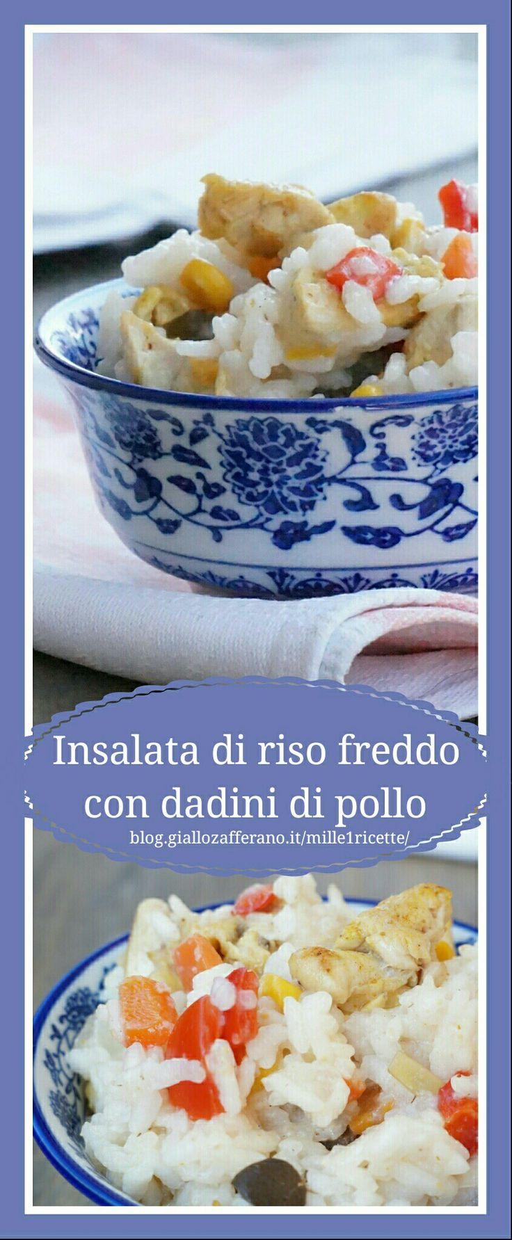 Insalata di riso freddo con pollo  a dadini  Buonissima e facilissima http://blog.giallozafferano.it/mille1ricette/insalata-riso-freddo-con-dadini-di-pollo/