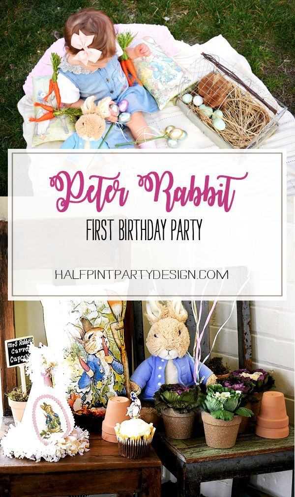 Peter Rabbit in Mr. McGregor's Garden First Birthday Party | Halfpint Design - A beautiful spring birthday theme