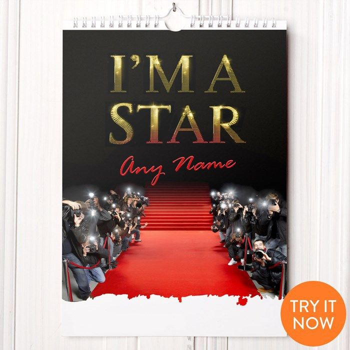 Personalised I'm A Star Calendar | GettingPersonal.co.uk