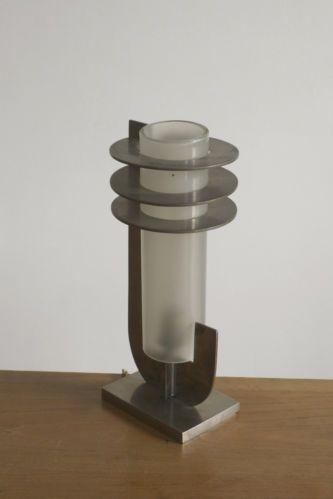 Lovely BORIS LACROIX LAMPE ART DECO MODERNISTE CUBISTE Bauhaus UAM Adnet