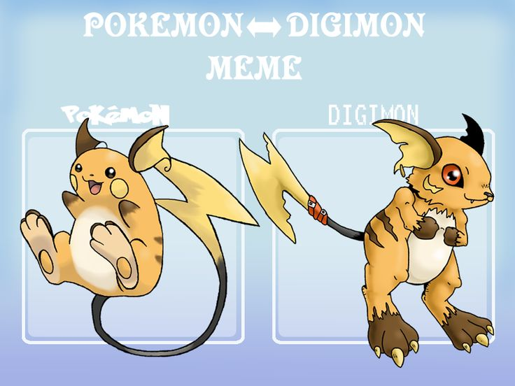 Pokemon digimon meme example by G-FauxPokemon.deviantart.com on @deviantART