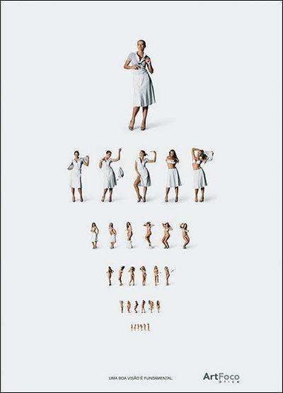 思わず食い入るように見入ってしまう、画期的な男性向け視力検査表 - GIGAZINE