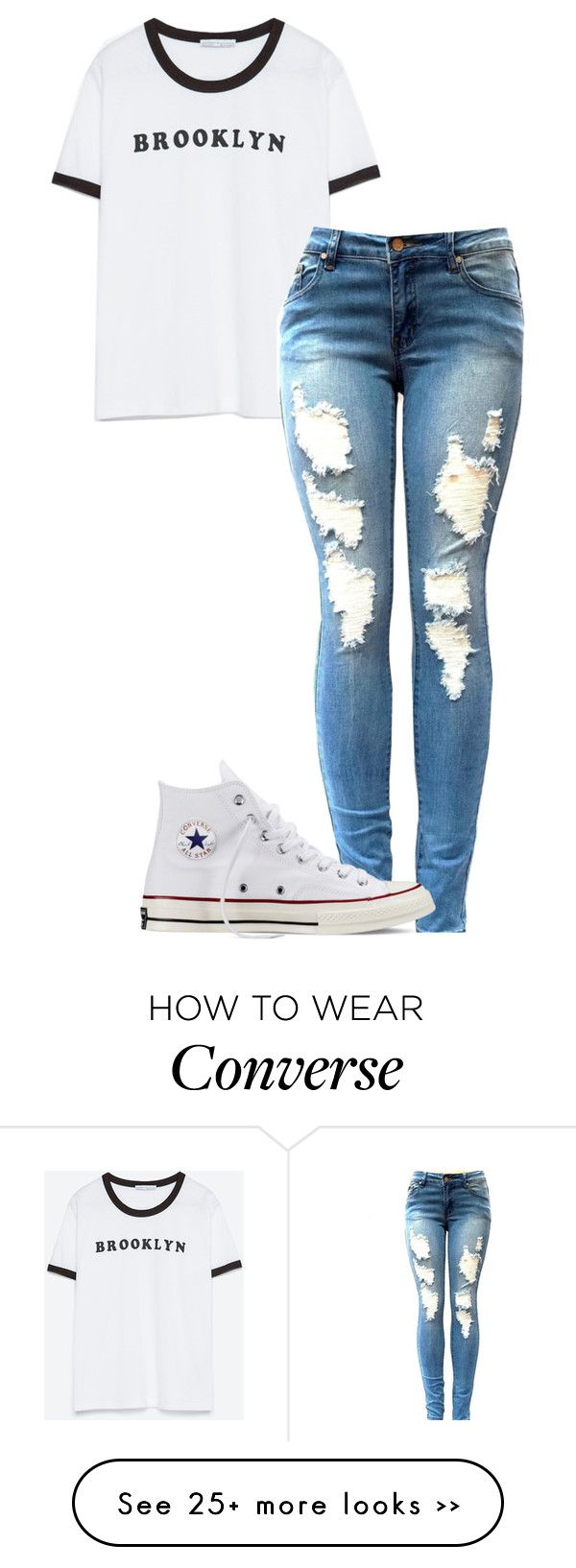"""""""Simple"""" by maybabymarie3 on Polyvore featuring Zara and Converse"""