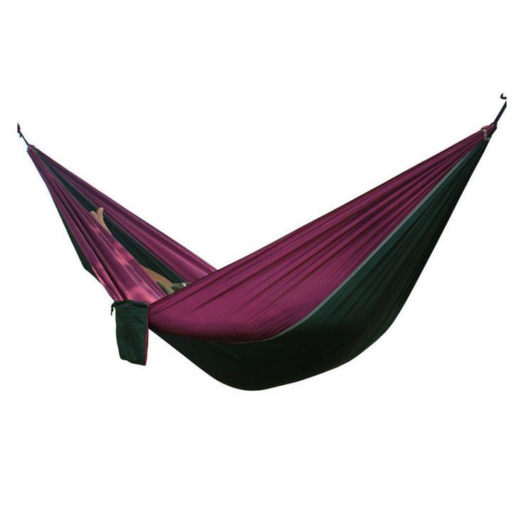 Double Outdoors Indoor Parachute Cloth Sleeping Hammock Strong Camping Swing Leisure Flyknit Hamac Hamaca Hamak Garden Hangmat