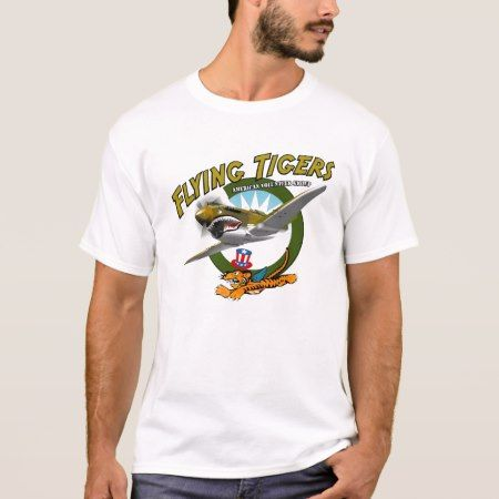 P-40 Flying Tigers T-Shirt Flying Tigers American Volunteer Group. WWII