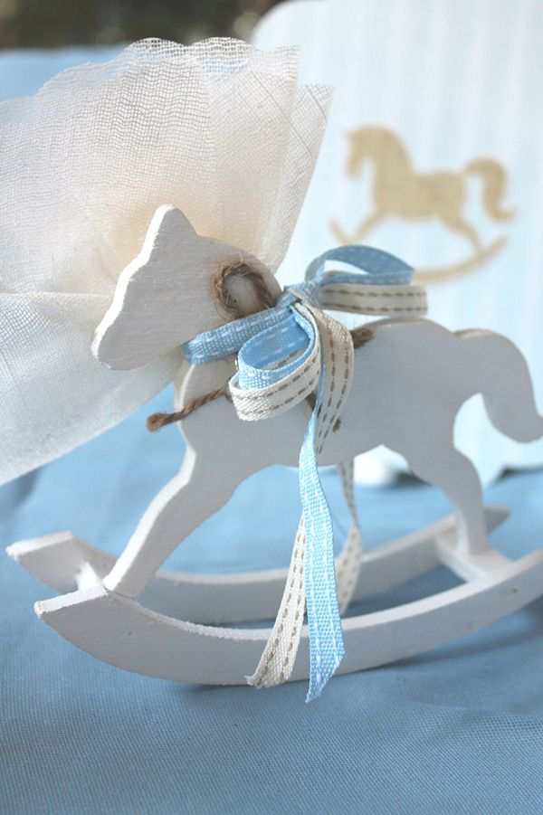 60 best baptism theme ideas events images on pinterest theme style concept rockinghorse favor with matching invitation everafter stopboris Image collections