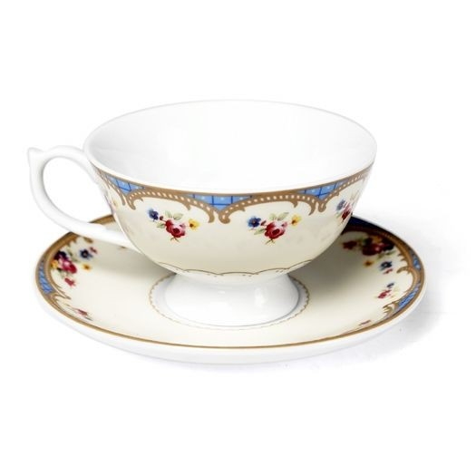 Regency Teacup and Saucer (Roses)