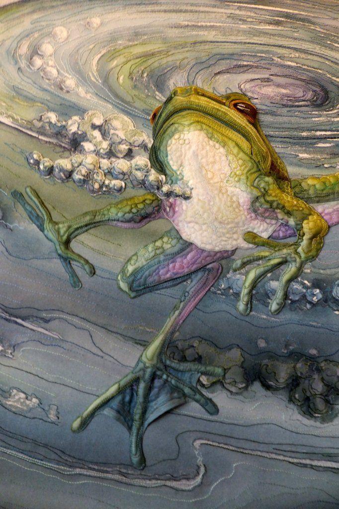 Quilt by Annemieke Mein, amazing wildlife artist in textiles.