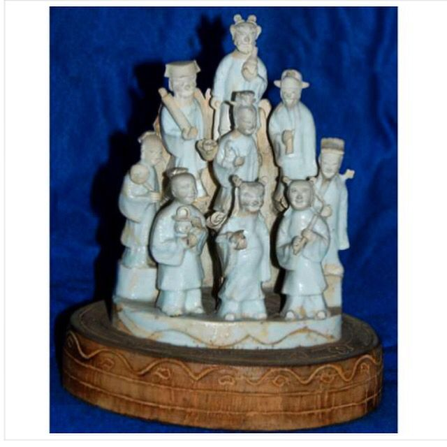 FIGURES OF THE EIGHT IMMORTALS AND SHOULAO peso 814  medidas 17 x 12 x 8   Galeria Paiva Frade 05 de setembro às 20:30hs Meissen and european porcelain - Chinese export porcelain  www.iarremate.com   #meissen #meissenporcelain #meissenporcelaincollection #porcelain #escultura #collection #leilao #auction #bid #chinese #paivafrade #european #inedito #iarremate #luxury #luxo #decor #arquitetura #export #exportquality