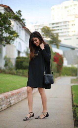 Wow-Looks für jede Figur: So unterschiedlich kann man ein schwarzes Kleid kombi… – Kleid ideen