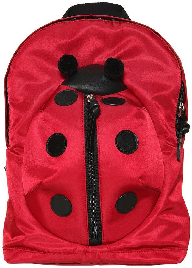1e72ecfa8438 Dolce   Gabbana Ladybug Nylon   Leather Backpack